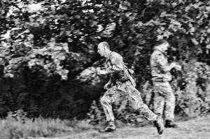 Rev Martin running - Tarzan Course