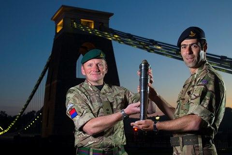 The Captain General's Baton at the suspension bridge, Bristol. Image Credit; paulbox